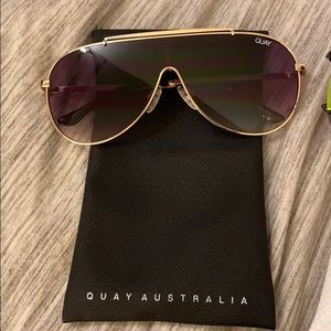 Two never worn pairs of Quay Sunglasses.